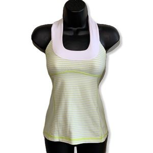 lululemon Scoop Neck Tank Zippy Green Neon